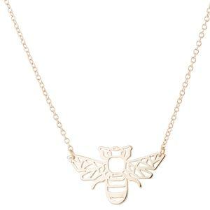 Jewelry - NWT Minimalist Bee Silhouette Necklace